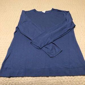 J Jill Periwinkle Cotton/Viscose Blend Sweater